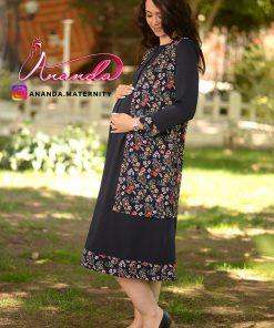 مانتو بارداری دو تکه مدل ماه سیما
